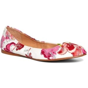 Brooks Brothers Floral Canvas Ballet Flat
